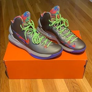 KD V Splatter Basketball Shoes, size 12